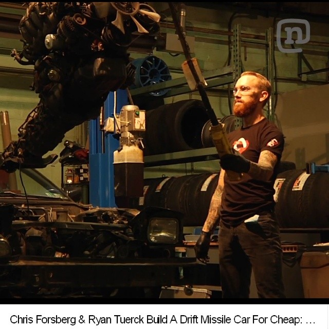 Chris Forsberg and  Ryan Tuerck Drift Missile Car Build