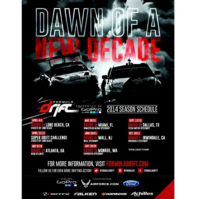 2014 Formula DRIFT Schedule