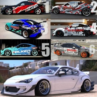 (1-6 VOTE NOW!!!) Dai Yoshihara Falken BRZ Livery Contest