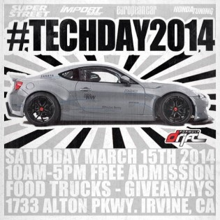 FORMULA DRIFT TECH DAY - March 15th - Irvine, CA