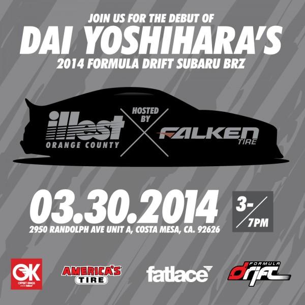 Dai Yoshihara Subaru BRZ Debut March 30th 2014