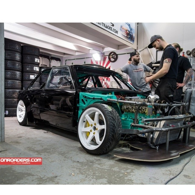2JZ E30Build By @vmr_drifting / Photo by Johan Lindfors from @onroaders - Feature Link http://onroaders.com/blog/1529/l-m-r-drift-alliance-bmw-e30-2jz-details-touch-down-and-a-pinch-of-fresh-air / Facebook.com/onroaders