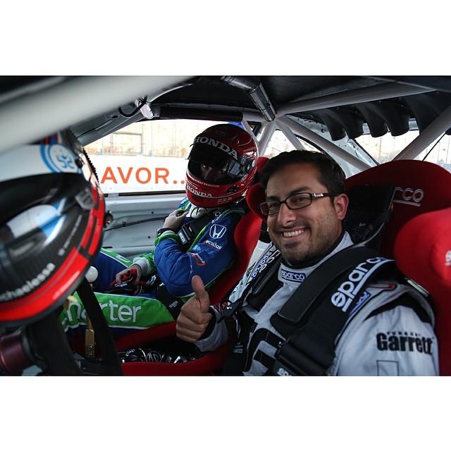 @michaelessa giving a ride to Indy Car Driver @simonpagenaud @smpindycar @toyotagplb #formulad #formuladrift #tgplb40