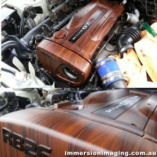 (POST A COMMENT !!! TAG YOUR FRIENDS !!!) Woodgrain RB26 Cover by Immersion Imaging - @dipitkustoms / Facebook.com/immersionimaging / immersionimaging.com.au