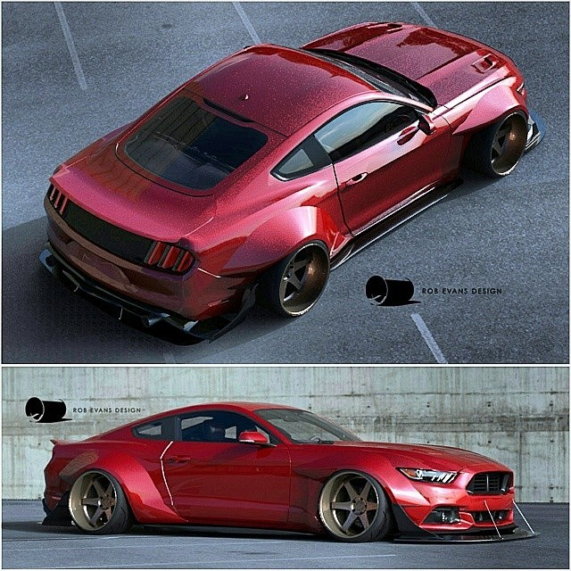2015 ford mustang wide body concept by robevansdesign. Black Bedroom Furniture Sets. Home Design Ideas