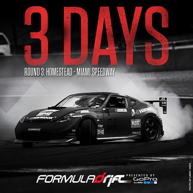 3 more days till Round 3 - Miami! @homesteadmiami   #formulad #formuladrift #fdmia