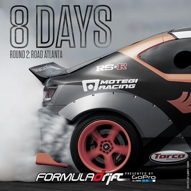 8 Days and counting @fredricaasbo @scionracing @hankookusaracing #formulad #formuladrift #fdatl