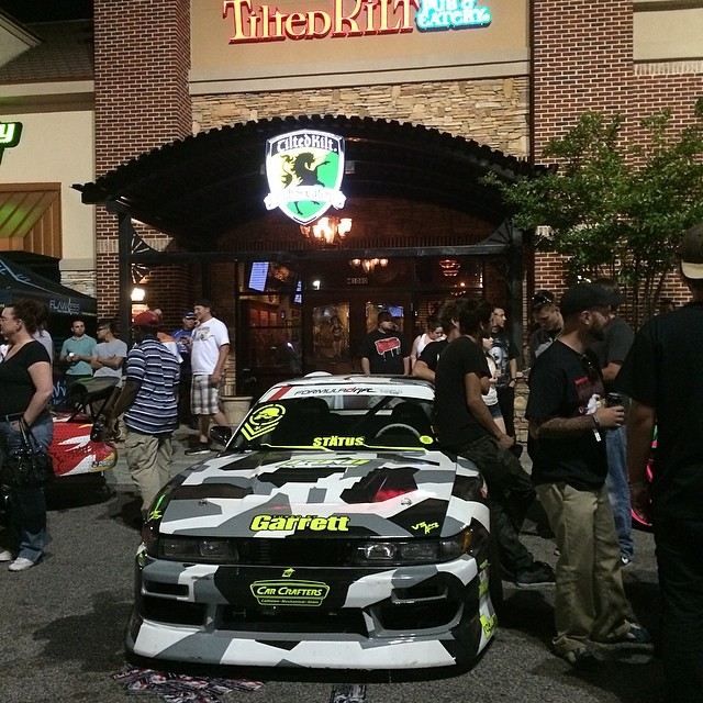 Come hang out at the Tilted Kilt in Buford,GA #formlad #formuladrift #fdatl @eyehate Thanks to @q45_life @240sx_culture for putting this together! Round 2 - Road Atlanta going down this weekend!