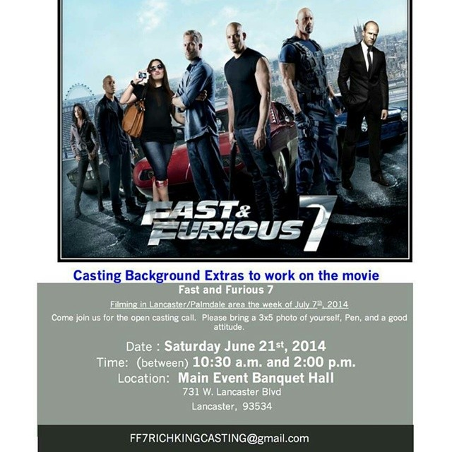Fast And Furious 7 , Los Angeles Casting Call