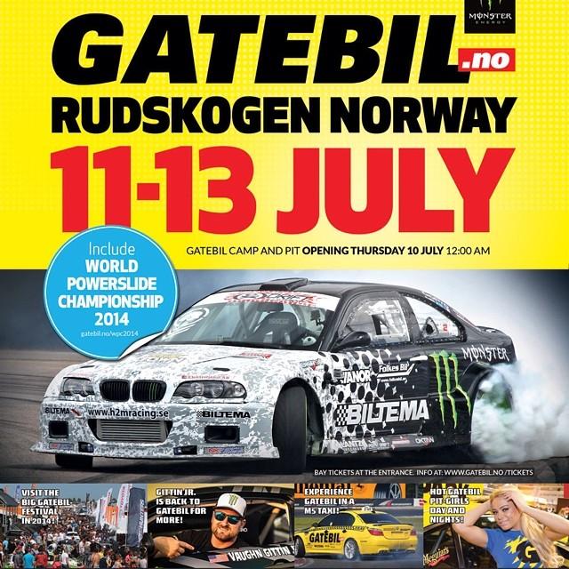 Gatebil is finally on Instagram! This is the Official account, follow us for updates! See you at the next event: Rudskogen, Norway 11-13 of july. #gatebil #MonsterEnergy #VaughnGittinJR #drifting #Rudskogen