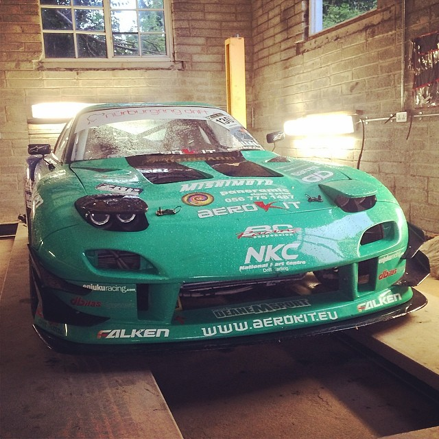Rx on the ramp for a freshen up before her summer European adventures :) @falkenmotorsports #n24 #wheelsfest #nurburgring #jd130