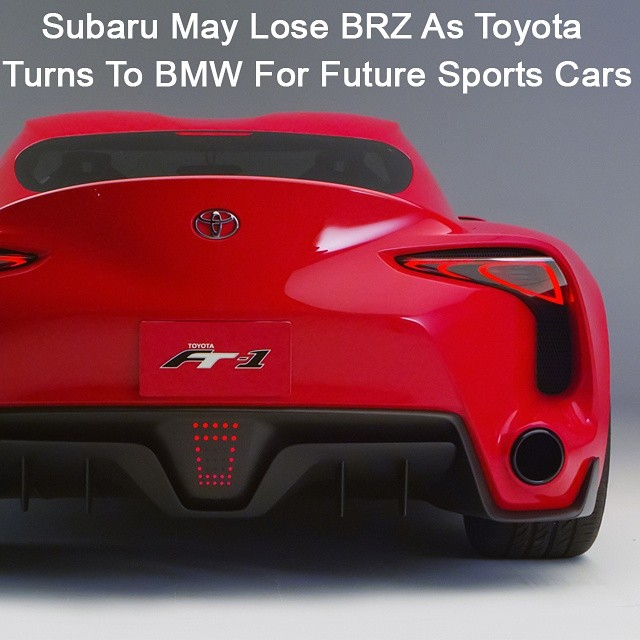 Subaru May Lose Brz As Toyota Turns To Bmw For Future Sports Cars