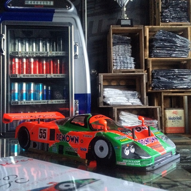 Finished assembling my 1/12 RC MAZDA 787b SUPERRAJIKON #787b #ZoomZoom #MAZDA #v8slayer #leMans #26b #4rotor #RotangKlan