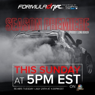 Formula Drift Long Beach on TV July 27th 2014 - 5PM PST - NBC Sports @nbcsports