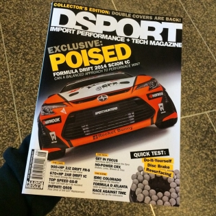 Just picked up the latest issue of @dsport - check it out for a great breakdown of the @hankookusaracing @scionracing tC and how it compares to our European #86-X drift car!