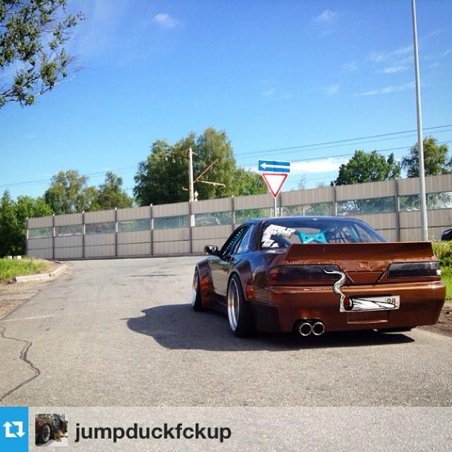#Repost from @jumpduckfckup --- Had a fun ride this morning, before she died)))  #chockobunny #ls13 #rocketbunny #trakyoto #ls3