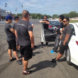 FD Team arrival to Autodrome St-Eustache
