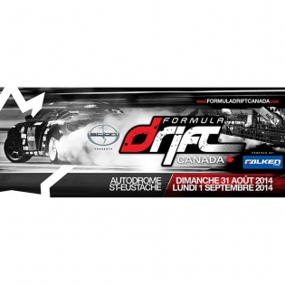 Formula DRIFT Challenge will be held at Autodrome St-Eustache on August 31st / September 1st 2014. Visit www.formuladriftcanada.com |