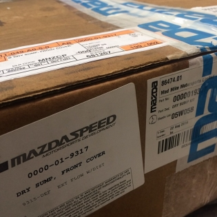 So pumped to have @mazdausa custom build us a genuine Dry Sump kit in less than 2 weeks for project