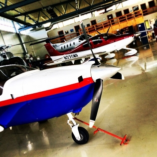 Today's garage. Any flight heads out there that know the names of these machines?