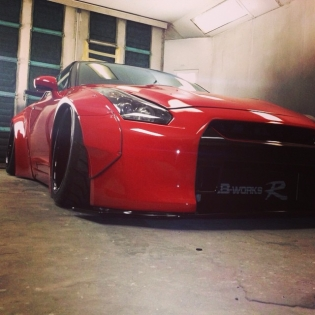 LB WORKS GTR in Hawaii. RED Version!! @forgiao