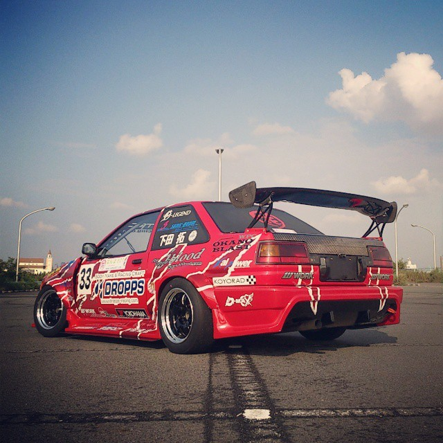 Shooting DROPPS Toyota AE86 N2 on WORK Meister S1 15inch now!