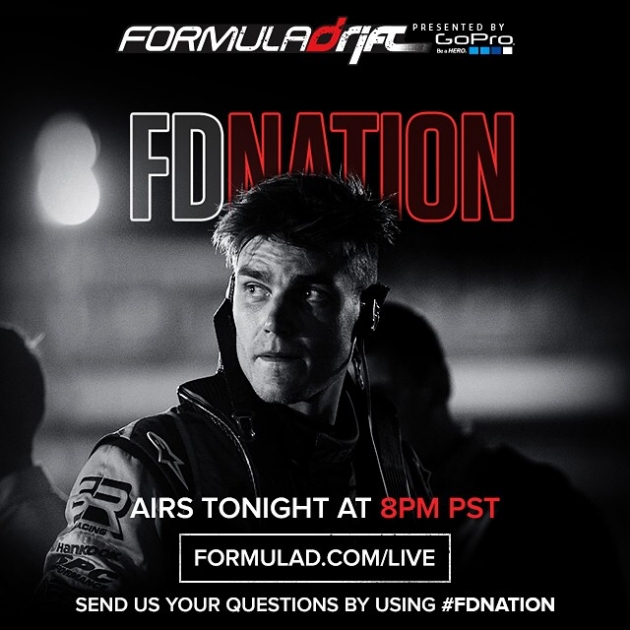 Nation Live Tonight 8PM PST. Tune in at www.formulad.com/live Send us your question by using