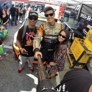 Do you own a #selfiestick? We always try to take time to take pictures with the drift fans that swing by our pits, and this guy had a pretty solid setup at Irwindale! Check out all the signatures by various drivers.
