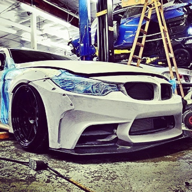 LB★Works 4 series going to iforged booth! 2014 SEMA. We need more 2 days to compleat!! #libertywalk #lbworks #lbkids #ltmw #iforged #bmw #airrex #srautogroup #ltmw #gtautoconcept #svhautobodyshop #bbiautosport #platinumautosport #premierautowerkz #mbperformance #simonmotorsport #chad_kobayashi #builttoorder