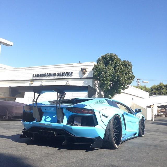 LBWorks Aventador Was Completed At Newport Beach Lamborghini - Newport lamborghini car show