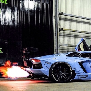 LB WORKS AVENTADOR!! Fire Performance. @forgiao