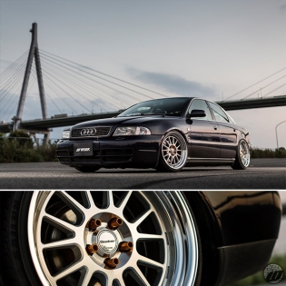 MON REVE Audi A4 Quattro on new WORK Seeker FX F/R: 18x9.5J