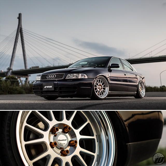 MON REVE Audi A4 Quattro on new WORK Seeker FX F/R: 18x9.5J