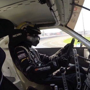Sitting shotgun with @chrisforsberg64 @hankookusaracing | @gopro |