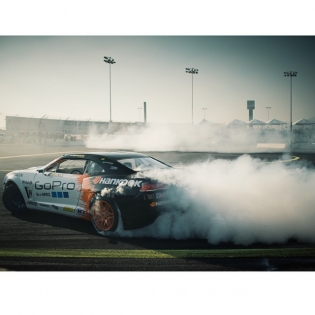 Smoke trails @tylermcquarrie @gopro @hankookusaracing | Photo by @larry_chen_foto |