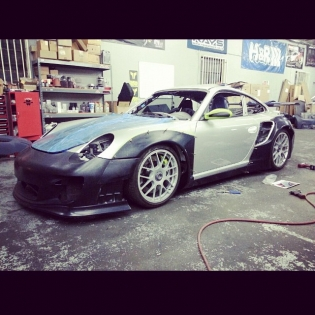 We are staring 997 installation at BBI Autosport and LTMW !! It's going to Sema! @forgiato r35