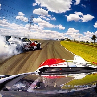 We qualified 3rd tonight at @formulad Australia! Get to Eastern Creek tomorrow to see all the action unfold. Pic props from the @gopro on the roof of @fredricaasbo RSR NASCAR V8 monster.