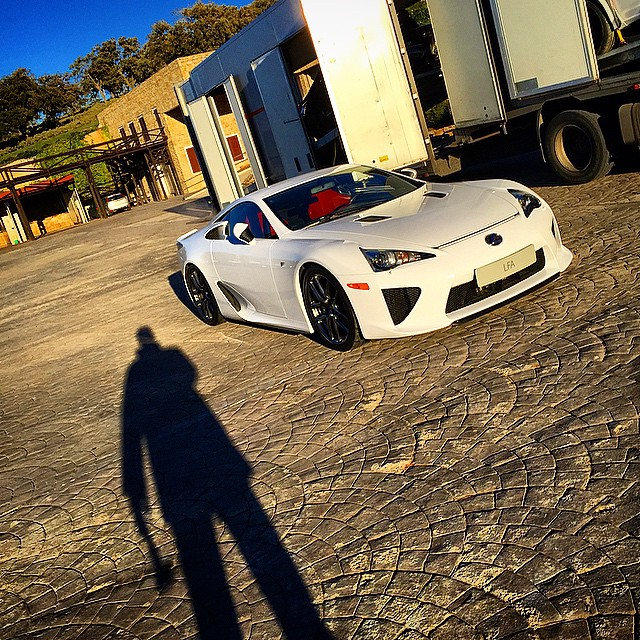 Good morning from Sierra Nevada. #Lexus #LFA #HammerTime