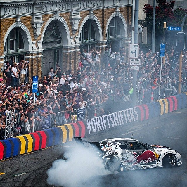 Got to thank you all that came out to @redbullnz #DriftShifters 2014 it was a MASSIVE challenge to create another super fun event in the CBD of Auckland City. If you didn't make it I hope you enjoyed the livestream. #highoctanepinball #BADBUL Pic pops: @miles_holden