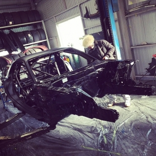 Here is a sneak peak of project fresh out the paint booth being built in Japan by @tcpmagic as some of you already know this FD RX7 will also run a setup similar to our MX5 I'm going to be unveiling this car in less than a month at Tokyo AutoSalon, Taihen tanoshimi des!