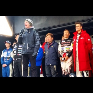 That moment when Formula Drift judge @lawntang sang the Japanese national anthem in front of all the drifting top dogs!