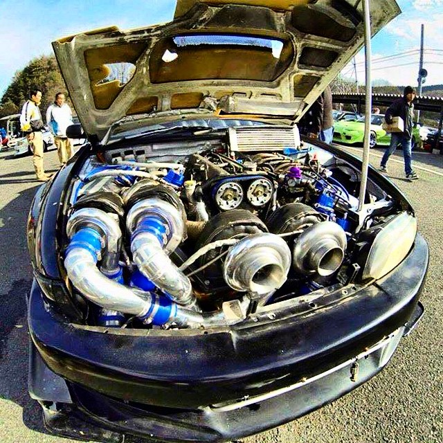 The definition of #overkill! Quad turbo #2JZ. #ItsNotLagItsForeplay