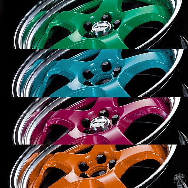 WORK just released 4 new colors for the Meister (S1 3pce, M1 3pce, S1R, M1R and CR01) and Seeker (CX, FX and SX) series! Let's put some color in our life! Contact your local distributor for more info. #artofwheel