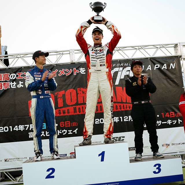 We are the 2014 Formula Drift Asia CHAMPIONS!!!! We've been working so hard for this and have managed to podium in every one of the four rounds this year against plenty of Asias top drift drivers and teams. So incredibly thankful for this opportunity from Team RS-R. We did it!!!! #Ichiban #FDJP #HoldStumt