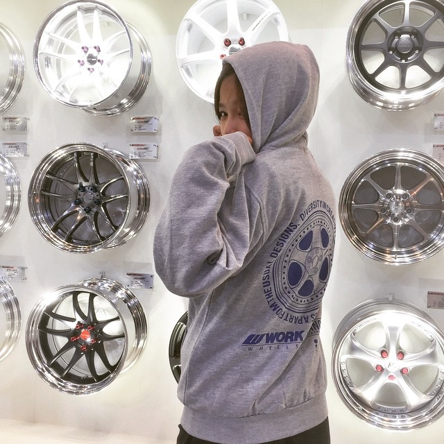 Tokyo Auto Salon day 2! We still have WORK x @ilovetanoshi collabo T-shirts and hoodies... But they won't last long! Should we make some more? #artofwheel #tas2015