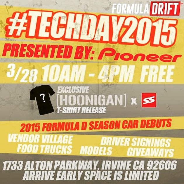 2015 Formula Drift Tech Day