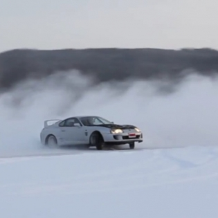 Have you ever drifted on a frozen lake? It's some of the most fun you can have in a car! For full length video, go to my Facebook page (link in profile).