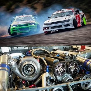 Thursday! My friend Petter's Toyota engined S14 pro drift car!