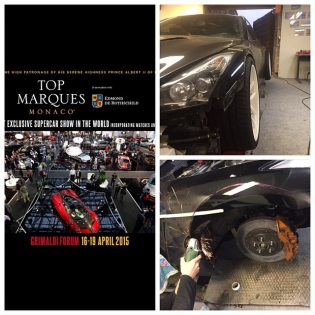 Dijon Auto racing building LB★Works GTR for Top Marques Monaco!!