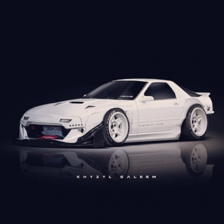 FC RX7 Wide-Body Render by @the_kyza